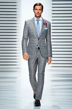 window pane suit light blue bold...a little too bold. Good components, though. *Dalton