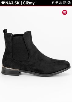 Čierne semišové pérka SDS Chelsea Boots, Platform, Ankle, Shoes, Fashion, Moda, Zapatos, Wall Plug, Shoes Outlet