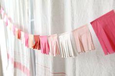diy tissue paper party garland