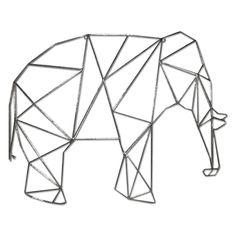 SMPB 21X27 GEO WIRE ELEPHANT