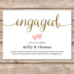 Printable engagement party invitation / Modern Wedding / Couples shower invite by paperhive on Etsy