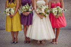 Different dresses for each bridesmaid? Maybe...