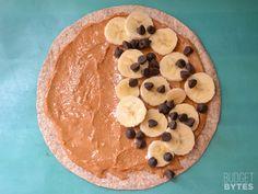 peanut butter banana quesadilla
