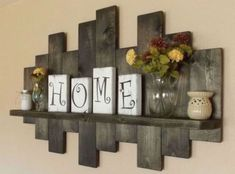offset shelves wooden shelves shabby chic decor rustic home decor rustic country decor farmhouse décor Rustic offset shelves; offset shelves wooden shelves shabby chic decor rustic home decor rustic country decor farmhouse décor Decoration Shabby, Diy Home Decor Rustic, Easy Home Decor, Cheap Home Decor, Country Decor, Rustic Living Room Decor, Home Decoration, Country Living, Living Room Decorations