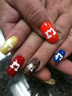 M & M's by nailtechtish - Nail Art Gallery nailartgallery.nailsmag.com by Nails Magazine www.nailsmag.com #nailart
