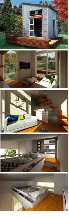 Sustainably built and affordable tiny house by NOMAD Micro Homes Small Tiny House, Micro House, Tiny House Living, Tiny House Design, Small House Plans, Small Modular Homes, Tiny House Movement, Tiny Spaces, Little Houses