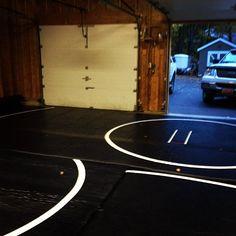 bye bye garage ✋ #wrestling #mats #brother #obsessed via michaelaajeanne