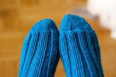 knitted socks - so happy