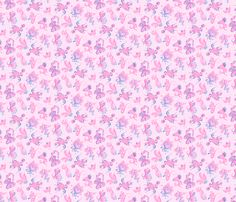 Fabric Pink Designs Small Background Swirly By Nicole Denise On Spoonflower LightGuitarsHand DrawnCustom