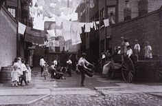 Playground in Tenement Alley, Boston, MA, 1909.  Photo by Lewis Hine