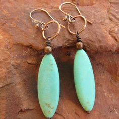 Boho Earrings Turquoise Earrings Ethnic by IsleofSkyeJewelry