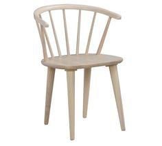 Ria Spisebordsstol - Lys træ - Spisebordsstol i hvidvasket træ