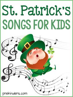 St. Patrick's Day video songs for Preschool to Kindergarten kids! Music and movement songs by popular children's music artists.