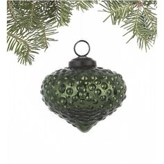 Antiqued Dark Green Dotted Onion Ornament in Christmas Ornaments Christmas Palace, Christmas In July, Green Christmas, Christmas Bulbs, Christmas Decorations, Xmas, Holiday Decor, Christmas Ideas, Ball Ornaments