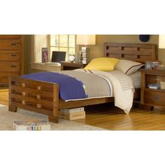 Cozy and rustic, this bed features clean lines and a timeless design that will last for years to come.  Constructed using mortis and tenon joints and featuring smooth, sanded radius corners, this sturdy bed is the perfect choice for your bedroom.