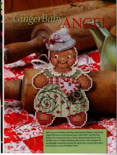 Ginger Baby Angel Ornament {S}