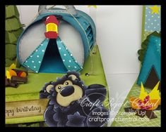 Porch Swing Creations: Campout Gift Box & Pop-Up Card!