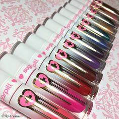 Swatches: Sugarpill Pretty Poison Liquid Lip Colors