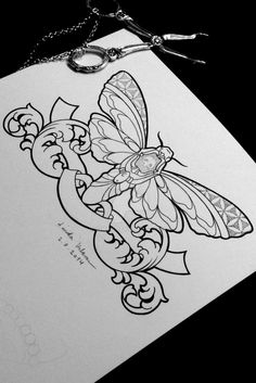 Death's-head hawk moth (Tattoo Design)