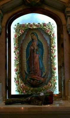 Our Lady of Guadalupe at the Shrine of St. Theresa The Little Flower in San Antonio Texas. going to this most Holy place is SOOOOOOOOOOO on my bucket list.