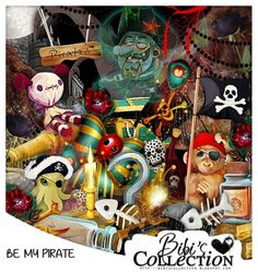 "Kit ""BE MY PIRATE"" by Bibi's Collection matching kit for new exclusive commission tube by LadyMishka called ""Pirate Joey"" http://scrapsncompany.com/index.php?main_page=product_info&cPath=112_114_168&products_id=19814"