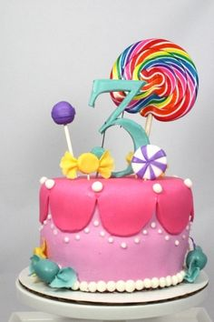 Another fun Candy Land cake idea.