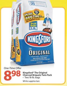 Kingsford Charcoal 18lb Bags only $4.49 each at Walmart This Week! - http://www.couponaholic.net/2014/03/kingsford-charcoal-18lb-bags-only-4-49-each-at-walmart-this-week/