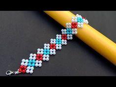 How to Make/ Bracelet/ Simple and Beautiful/ Beaded/ Bracelet/ Tutorial/ Useful & Easy – DIY jewelry Seed Bead Bracelets Tutorials, Making Bracelets With Beads, Beaded Bracelets Tutorial, Diy Bracelets Easy, Beaded Bracelet Patterns, Beading Tutorials, Handmade Bracelets, Colorful Bracelets, Embroidery Bracelets
