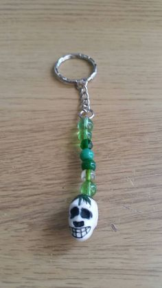 Check out this item in my Etsy shop https://www.etsy.com/uk/listing/244628966/skull-bead-keychain
