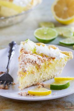Sweet, tart and creamy, this Caribbean Truffle Pie is filled with lemon, lime and coconut flavors - the best of the tropics!