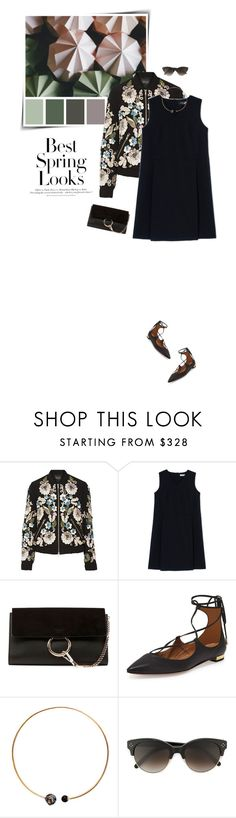 """""""Spring trend: bomber jackets"""" by sophiek82 ❤ liked on Polyvore featuring H&M, Needle & Thread, Jil Sander, Chloé, Aquazzura and Artelier by Cristina Ramella"""