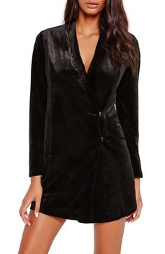 Free shipping and returns on Missguided Velvet Blazer Dress at Nordstrom.com. The transition to the crisp days of fall call for the opulence of plush velvet. Dare to bare your décolletage and plenty of leg in a double-breasted dress fashioned after your favorite slouchy blazer.