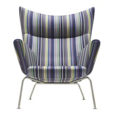 Paul Smith upholsters classic furniture designs by Hans J. Wegner in his signature stripes Steel Furniture, Furniture Plans, Furniture Design, Bedroom Furniture, Paul Smith, Kitchen Furniture Inspiration, Milan Furniture, Wing Chair, Classic Furniture