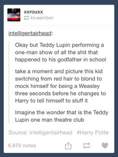 Teddy Lupin one-man theatre