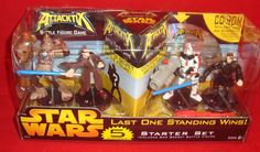 STAR WARS ATTACKTIX-5 FIGURES-LAST MAN STANDING STARTER SET-CD ROM-HASBRO-2005 #ATTACKTIXHASBRO