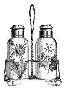 vintage kitchen clipart, salt pepper image, free black and white clip art, antique salt shaker, vintage food engraving