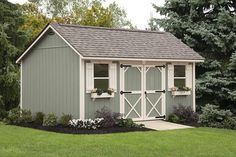 Cottage Shed with Double Doors - Shed with Windows |Ulrich