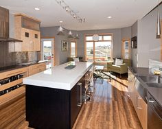 Wood floor color to blend with light maple cabinets