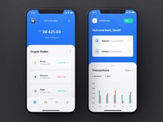 Surge is a Crypto / Wallet iOS app UI Kit consisting of 25 pixel-perfect screens. The kit is easy to fully customize to your liking and it leverages o Interaktives Design, Design Logo, Design Poster, Design Layouts, Flat Design, Design Ideas, Graphic Design, Dashboard App, Dashboard Design