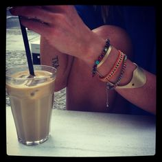 Iced coffee and Carpel cuffs... by Millicent Nobis on Subtill.com