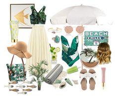 Beach by emese-vincze on Polyvore featuring The Row, WithChic, UGG, Tommy Bahama, Monica Vinader, Christian Dior, Urban Decay, AERIN, Grandin Road and Nearly Natural