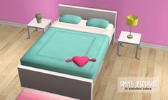 Simple beddings Credit: Shina22/Maxis for the texture, Eversims for the colors Download