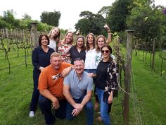 """These two groups of people came together on a Cork 'n Fork Tour on the weekend. The first group was a party of five lovely young ladies from Brisbane who originally all met at UQ during their studies """"a few"""" years ago. The second group was two couples one of which are repeat offenders, having been with us four time now.  After introductions at the first stop and some info on how to taste wines to enhance the experience of the day, they melded as if they had known each other f"""