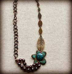 Don't Ever Leaf Me by LoreleiEurtoJewelry on Etsy, $55.00