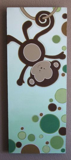Hey, I found this really awesome Etsy listing at https://www.etsy.com/listing/107445119/green-and-brown-monkey-with-polka-dots