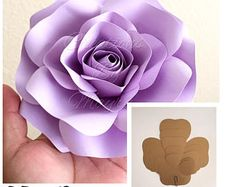 Template SALE  HARDCOPY Paper Flower Templates / Price is for