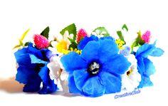 ОБОДОК - ВЕНОК на голову с цветами и ягодами / Мастер Класс ٠•●CreativeC...