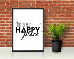 This Is Our Happy Place  Happy Place Print  Happy Place Wall
