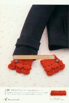 Patrones Crochet: Puños de Quita y Pon de Crochet Patron