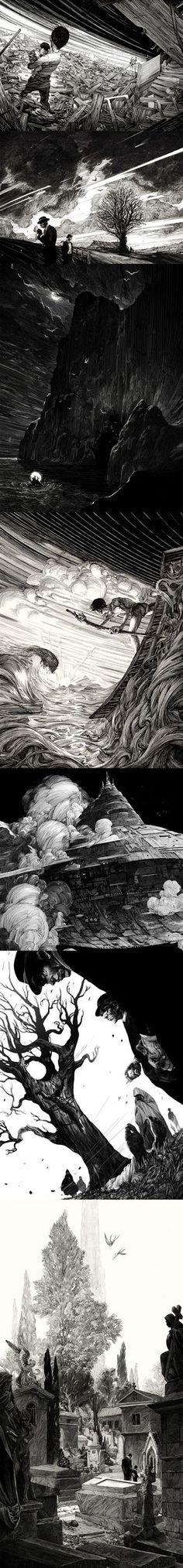 Ink work by Nico Delort